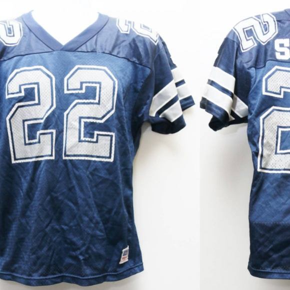 new style 66802 0477d 90's VTG Wilson EMMITT SMITH Dallas Cowboys Jersey